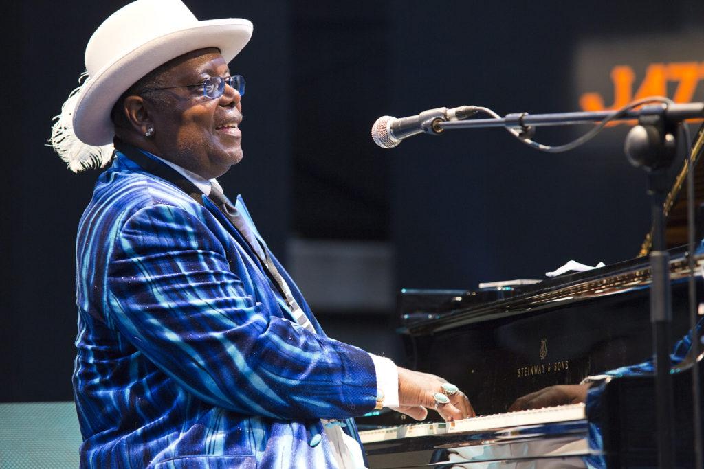 Concierto de Kenny 'Blues Boss' Wayne & The Drew Davies Rhythym Combo el día 12 de julio de 2015 en el XVIII Festival Internacional de Jazz de San Javier