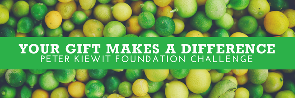 Your Gift Makes a Difference - Peter Kiewit Challenge